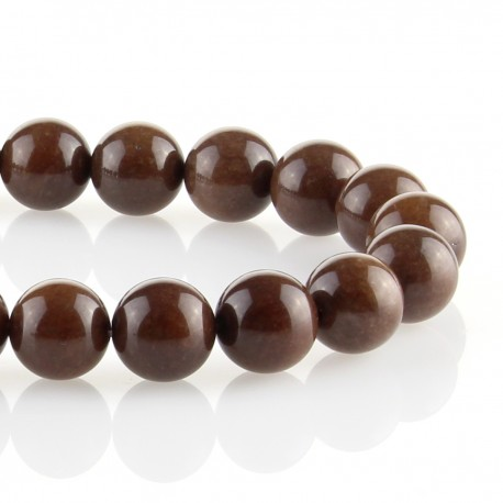 Brown jade – round beads
