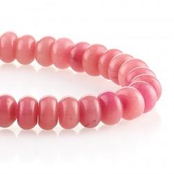 Jade rosa – talla rondelle