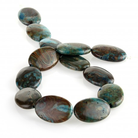 Blue crazy agate – oval carving