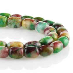 Multicolored jade – barrel carving