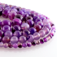 Purple Agate round beads
