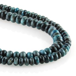 Blue labradorite – rondelle carving