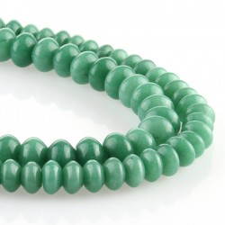 Jade verde – talla rondelle
