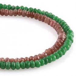 Jade - talla rondelle facetada