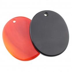 Flat oval pendant