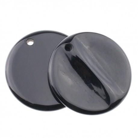 Round onyx pendant