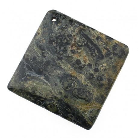 Square pendant of kambaba jasper