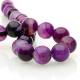 Purple Agate round beads - 16 mm