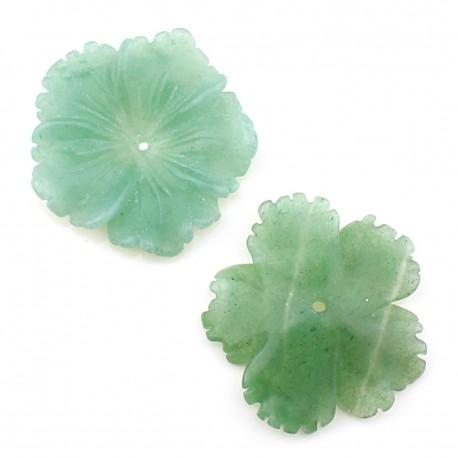 Flor grande de aventurina verde - clavelina