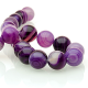 Purple Agate round beads - 14 mm