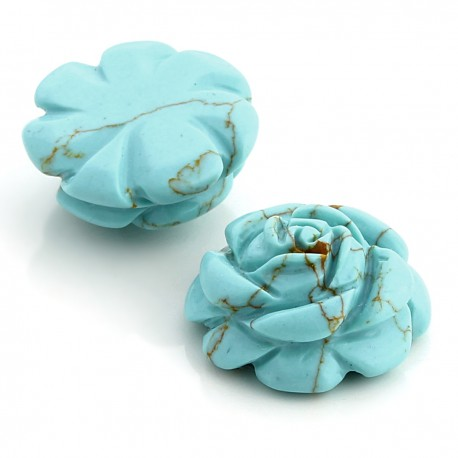 Synthetic turquoise rose