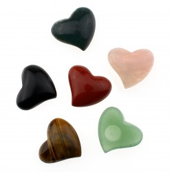 Heart of semi precious stones