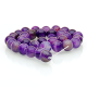Purple Agate round beads - 12 mm