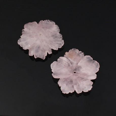 Flor de cuarzo rosa - clavelina