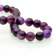Purple Agate round beads - 10 mm