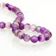Purple Agate round beads - 6 mm