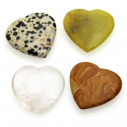 Heart - varied stones