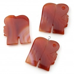 Carnelian elephant with a hole