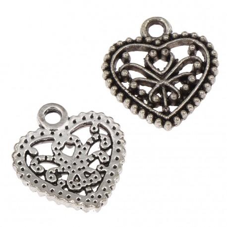 Heart Charm, 13 pcs