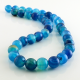 Blue Agate round beads - 10 mm
