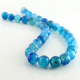 Blue Agate round beads - 12 mm
