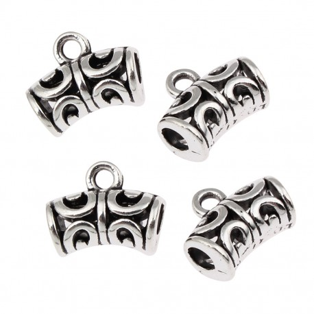 Draft and curved, bail - 18 pcs