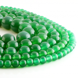 Green Agate round beads
