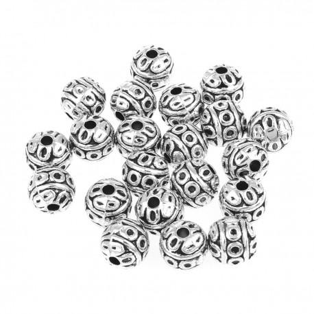 Circles round bead (13 pcs)