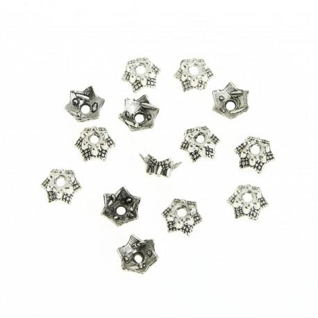 Star bead cap, 125 pcs