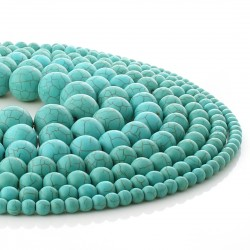 Synthetic turquoise - round beads