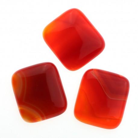 Cabujón grande - rectangular - Ágata roja