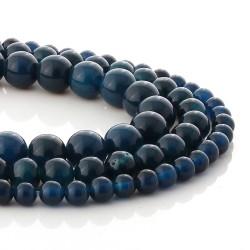Dark Blue Agate round beads