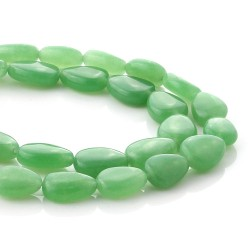 Green Jade beads in pear size