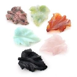Leaf pendant in natural stones