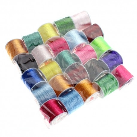 Pack of bobbins of silicone thread - 25 units