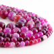 Pink Agate round beads