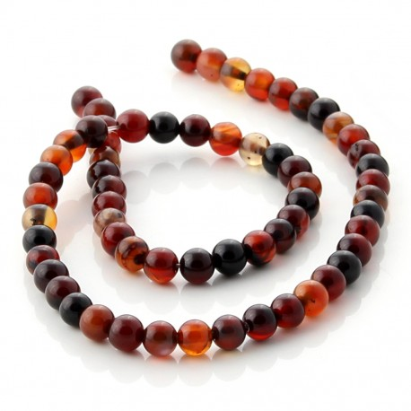 Miracle agate round beads - 6 mm