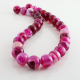 Pink Agate round beads - 12 mm