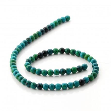 Chrysocolla round beads