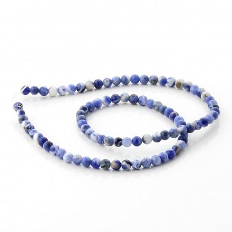 Sodalite round beads - 4 mm