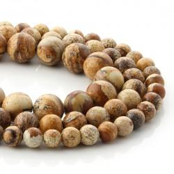 Paisina jasper in round beads