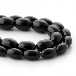 Onyx olive-shaped beads