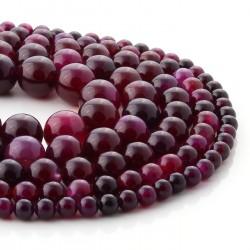 Cherry agate round beads