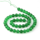 Green jade round beads 8 mm