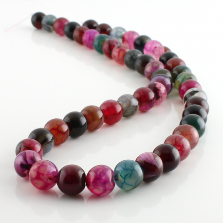 8 mm Dragón Agate round beads mix colo