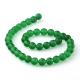 Green jade round beads 10 mm