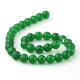 Green jade round beads 12 mm