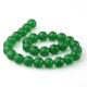 Green jade round beads 14 mm