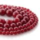 Ruby Jade round beads