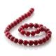 Ruby Jade round beads 10 mm